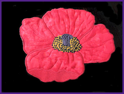 Large Poppy Applique
