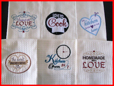 Kitchen Labels Free Instant Machine Embroidery Designs