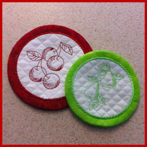 Ith Fruit Coasters Free Instant Machine Embroidery Designs