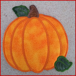 Pumpkin Placemat Free Instant Machine Embroidery Designs