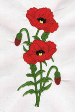 Poppies Filled Applique Machine Embroidery Design